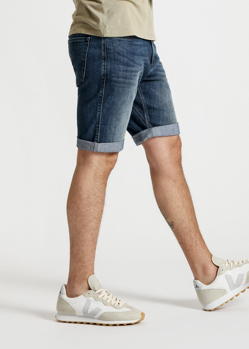 Light wash slim fit performance denim short side