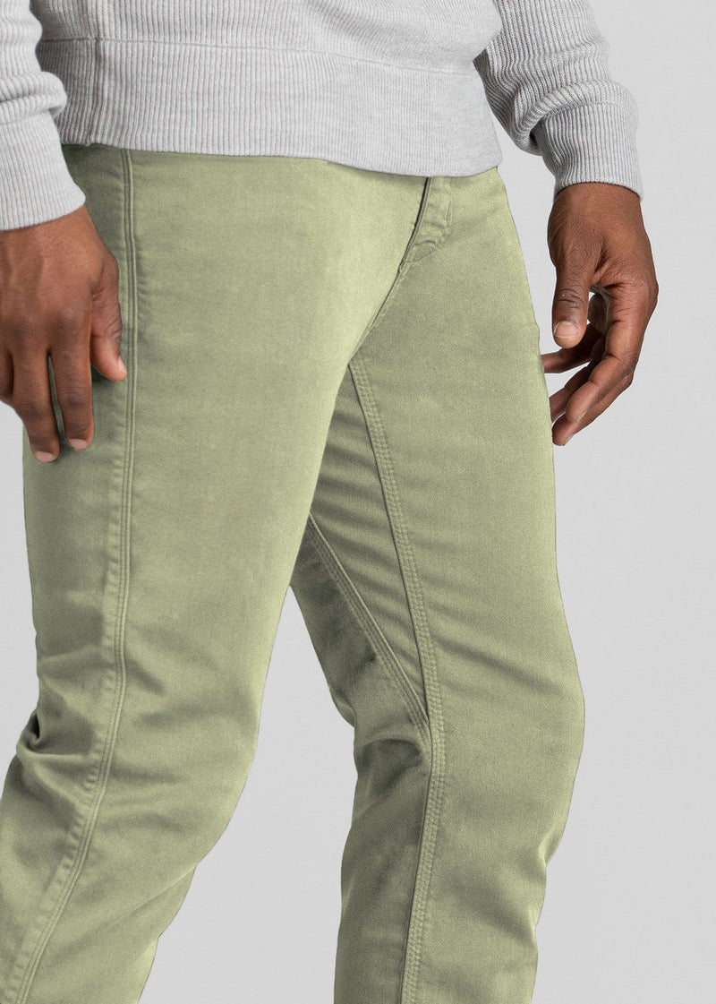 Mens light green relaxed fit dress sweatpant detail