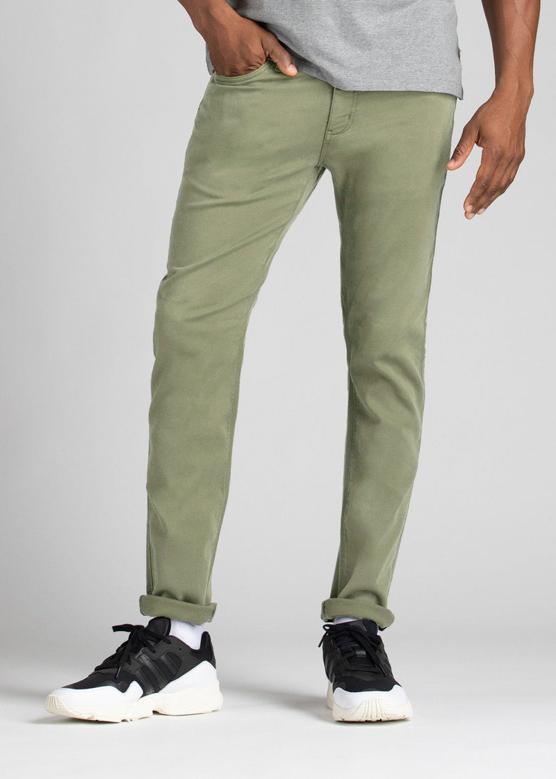 Mens light green relaxed fit dress sweatpant front