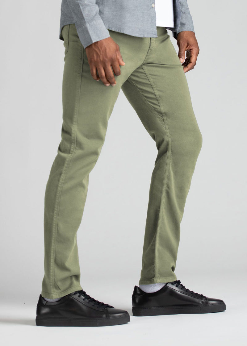 Mens light green relaxed fit dress sweatpant side