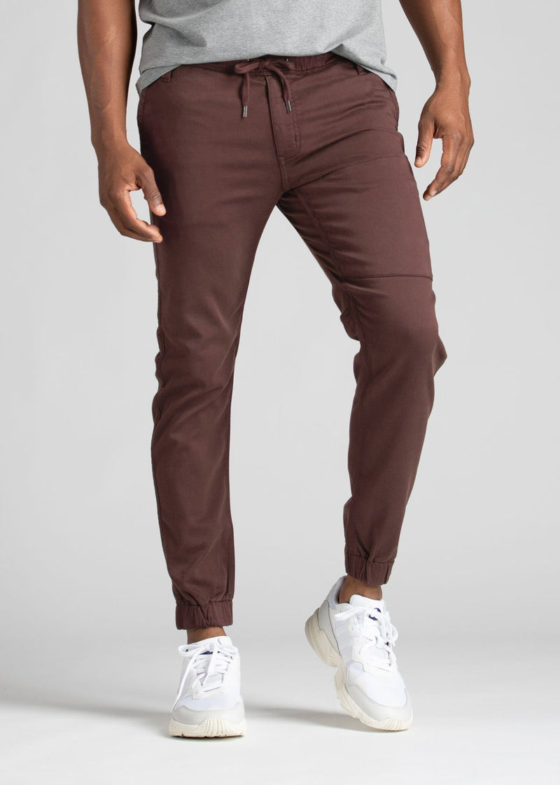 Mens light maroon athletic jogger front