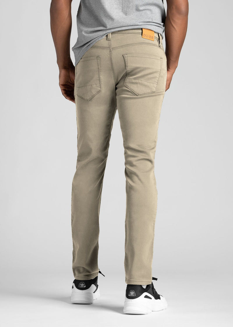Mens Beige Slim Fit Dress Sweatpant Back