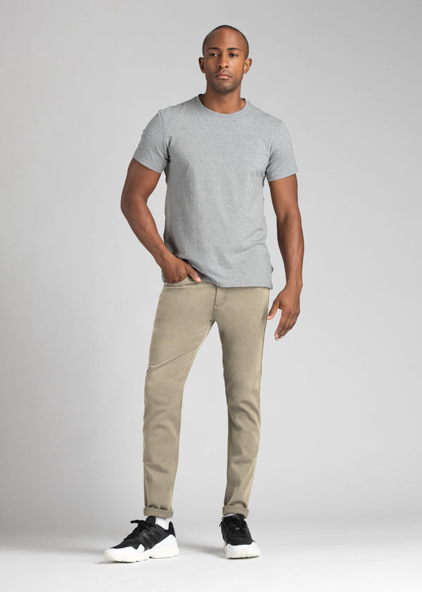 Mens Beige Slim Fit Dress Sweatpant Full Body