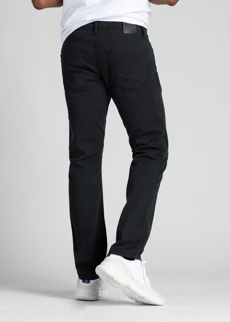 Mens Black Straight Fit Lightweight Pant back