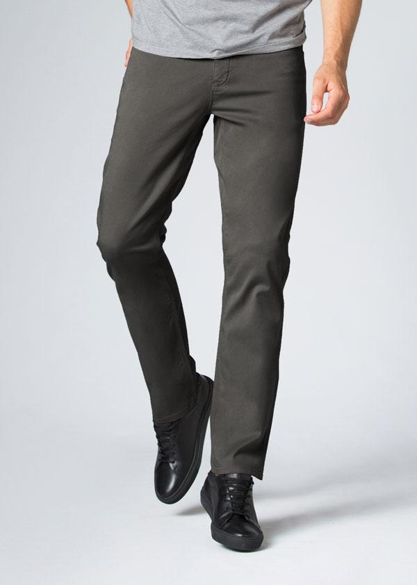 Mens Grey Straight Fit Lightweight Pant Front