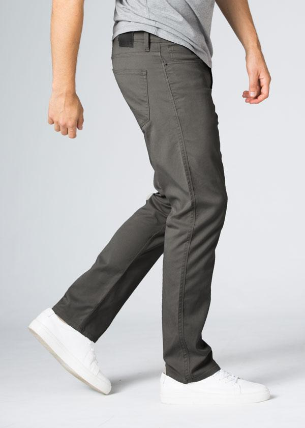 Mens Grey Straight Fit Lightweight Pant Side