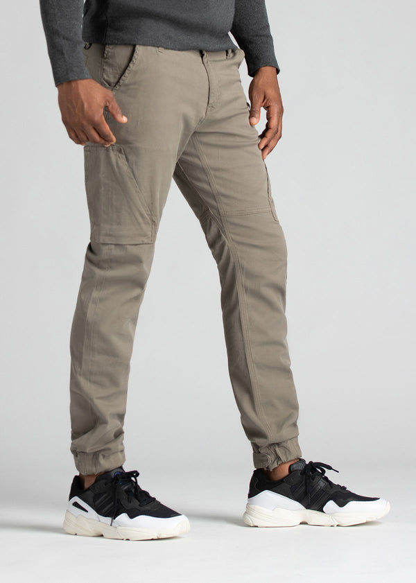 Mens Water Resistant Athletic Convertible Jogger Light Grey Side