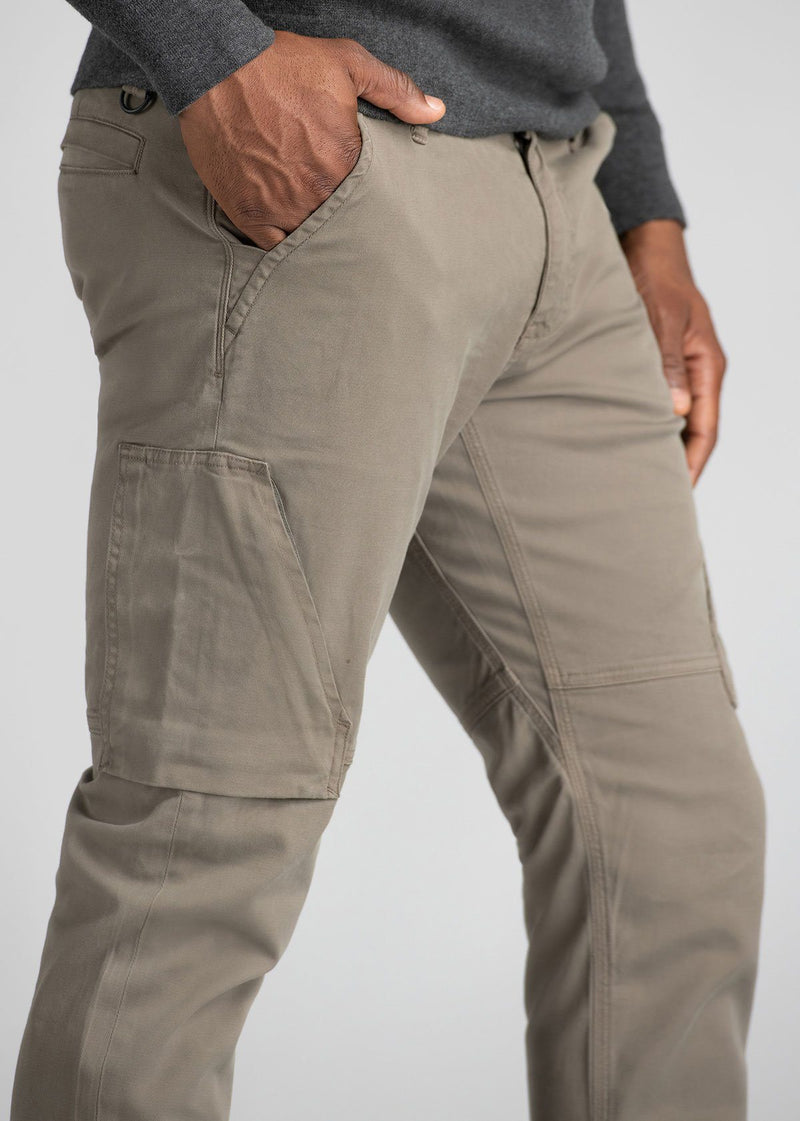Mens Water Resistant Athletic Convertible Jogger Light Grey Side Detail