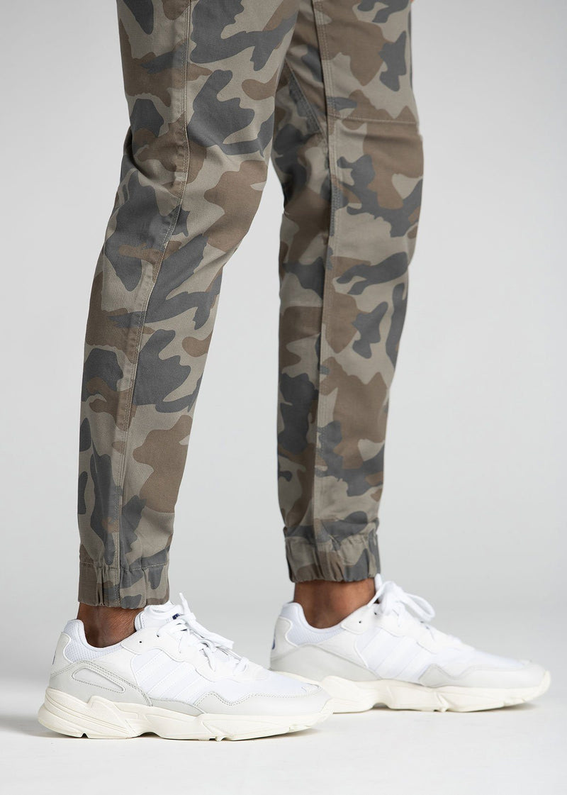 Mens Water Resistant Jogger Camo Coloured Cuff Detail