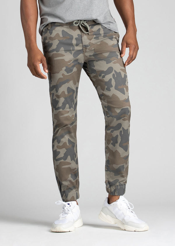 Mens Water Resistant Jogger Camo Coloured Front