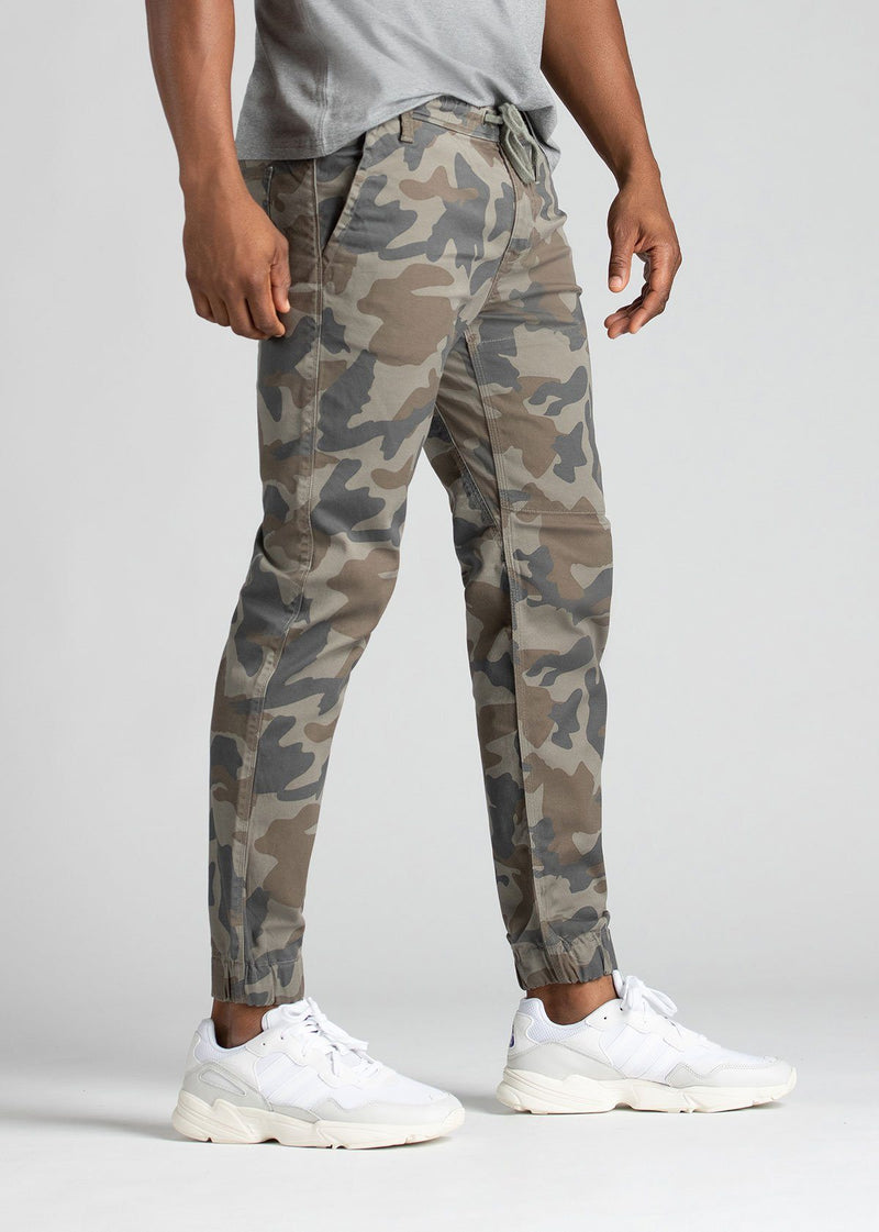 Mens Water Resistant Jogger Camo Coloured Side