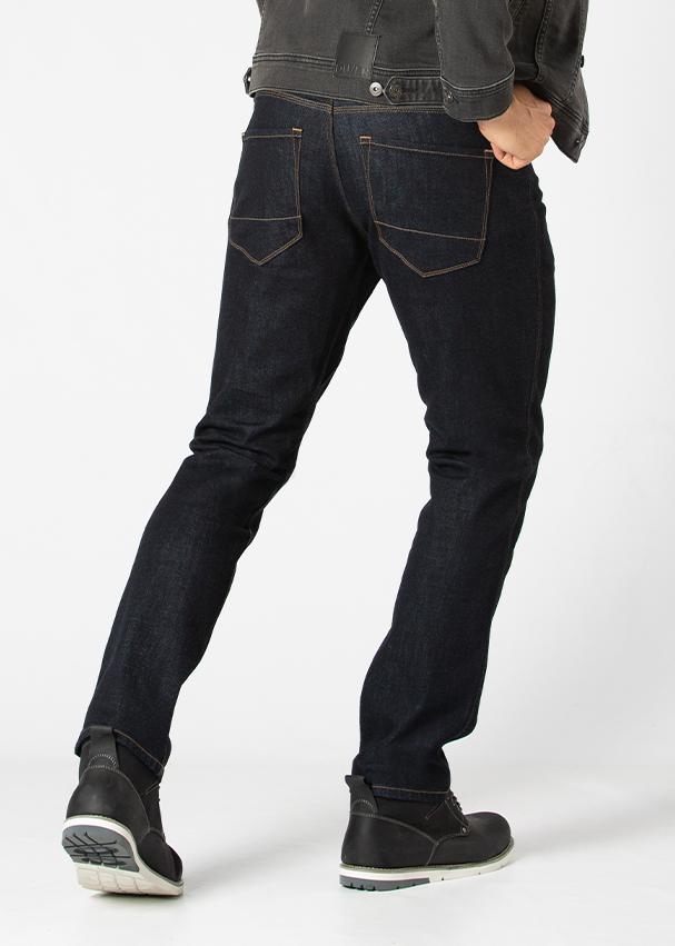 Midweight Dark Blue Stretch Denim Back