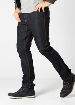 Midweight Dark Blue Stretch Denim Side