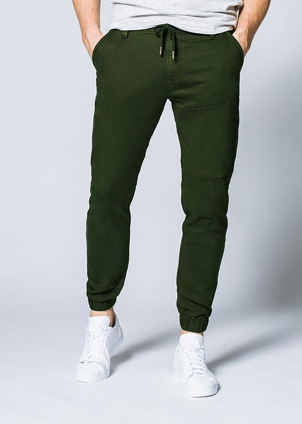 man wearing an olive Athletic Jogger front