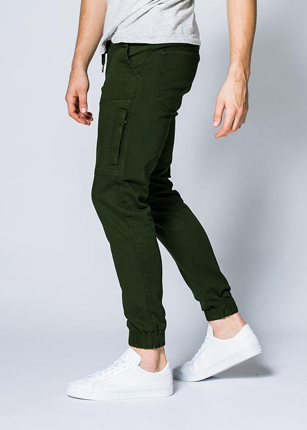 man wearing an olive Athletic Jogger profile