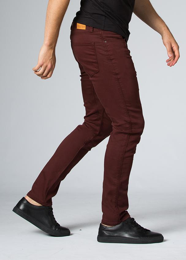 oxblood slim fit dress sweatpant side