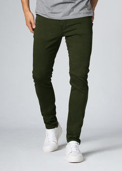 olive slim fit dress sweatpant front
