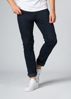 navy blue slim fit dress sweatpant front