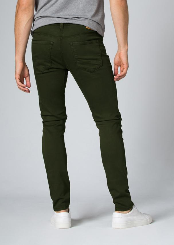 olive slim fit dress sweatpant back