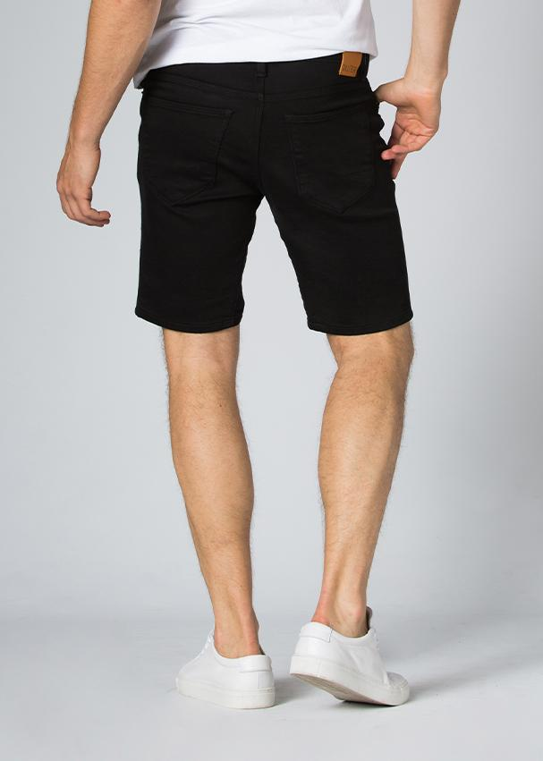 black slim fit performance short back