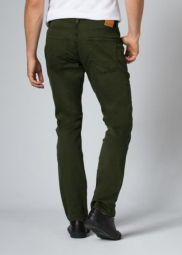 man wearing a olive Relaxed Fit Sweatpant back