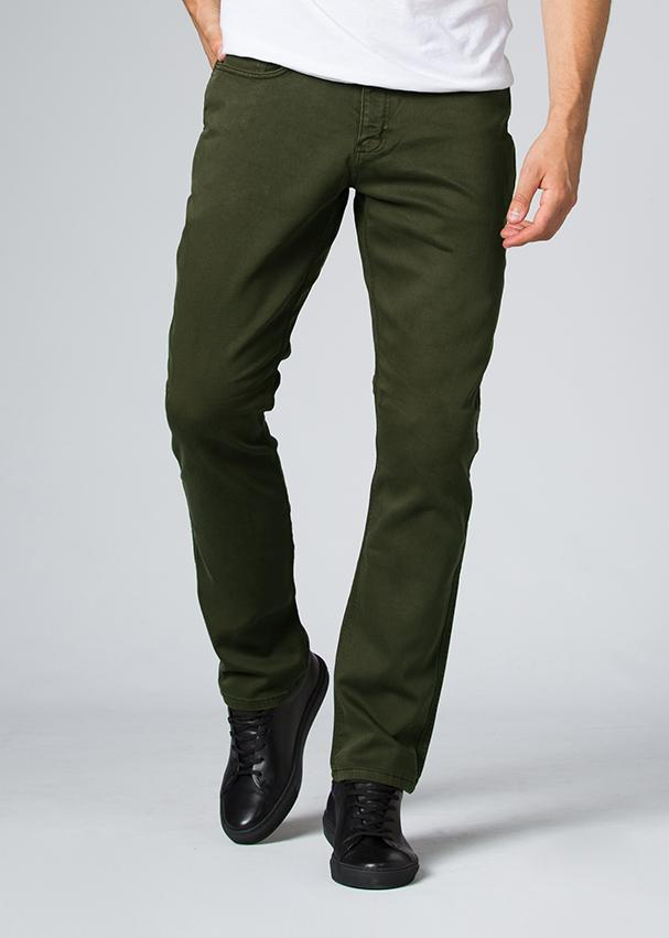 man wearing a olive Relaxed Fit Sweatpant front