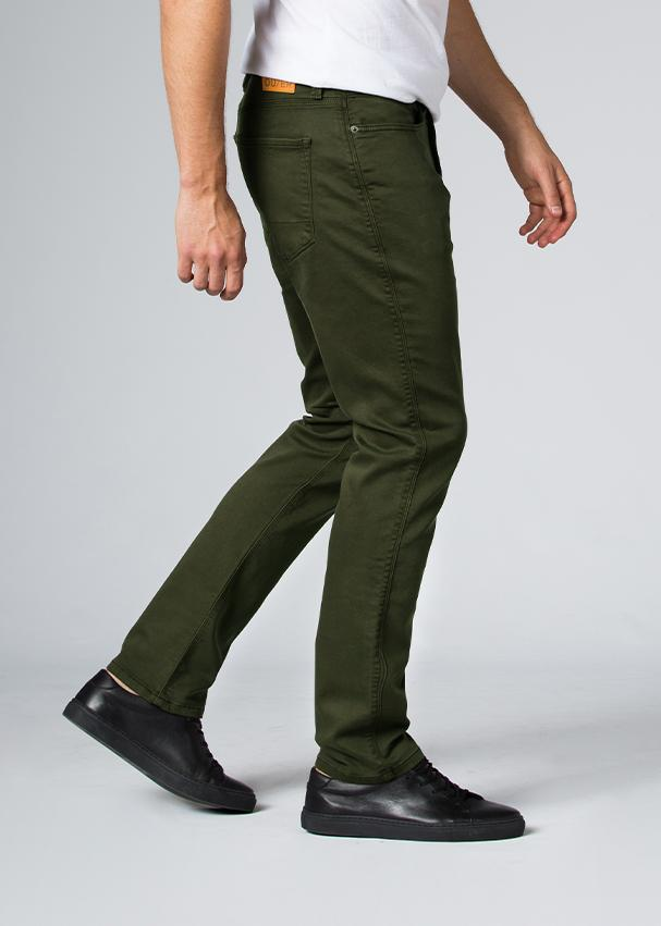 man wearing a olive Relaxed Fit Sweatpant profile