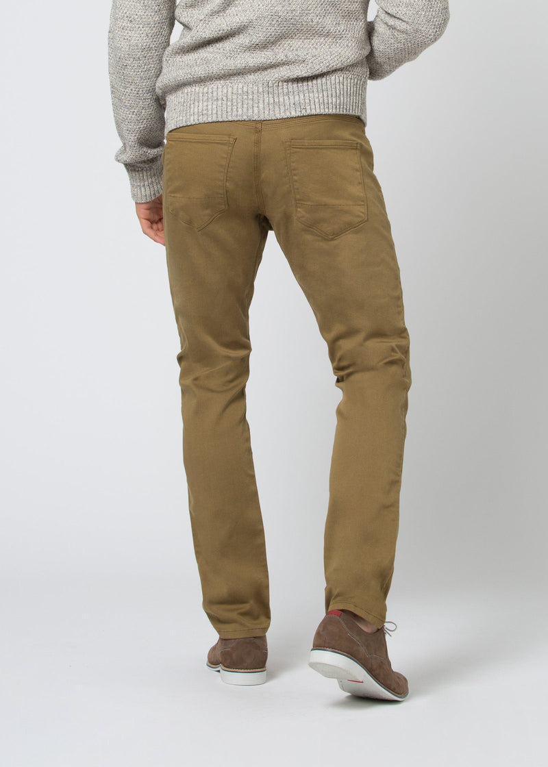 man wearing a mustard Relaxed Fit Sweatpant back