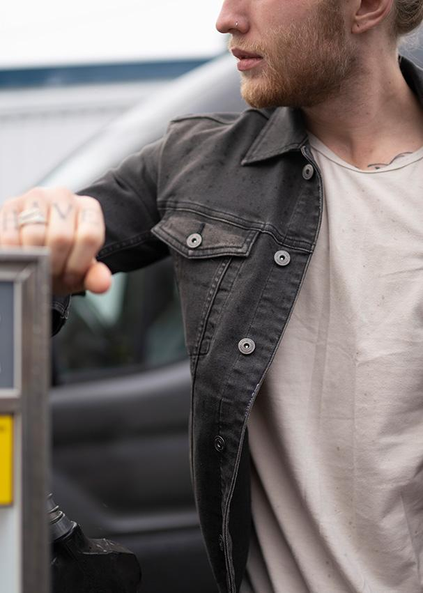 Performance Denim Jacket - Washed Black