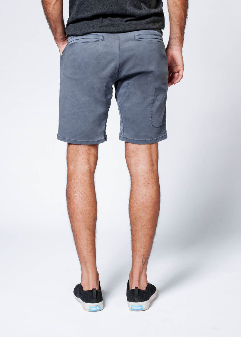 grey Straight Fit Performance Short back