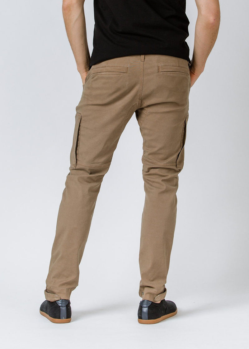 Khaki  Athletic Waterproof Pant Back
