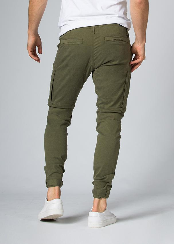 Green Athletic Waterproof Pant Back