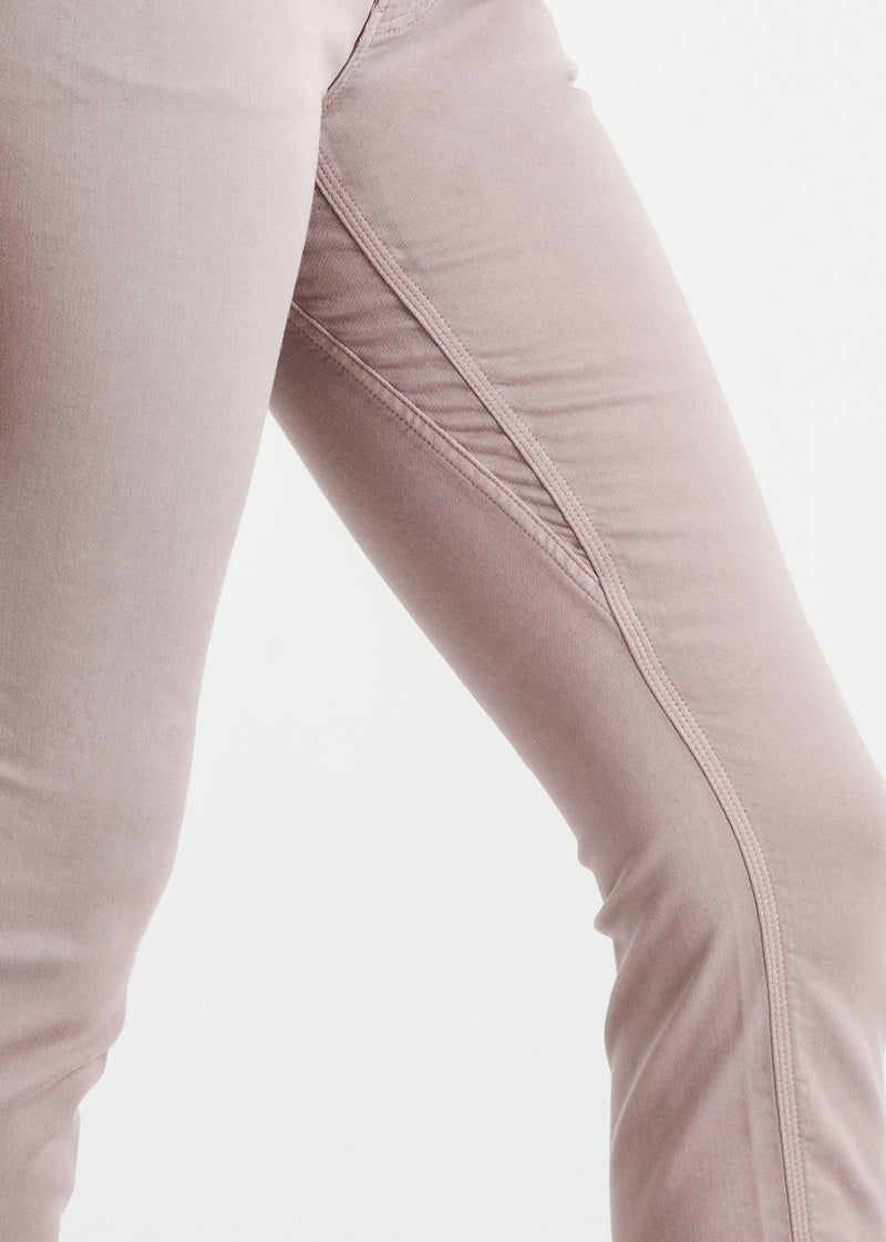 womens pink slim straight fit dress sweatpant gusset detail