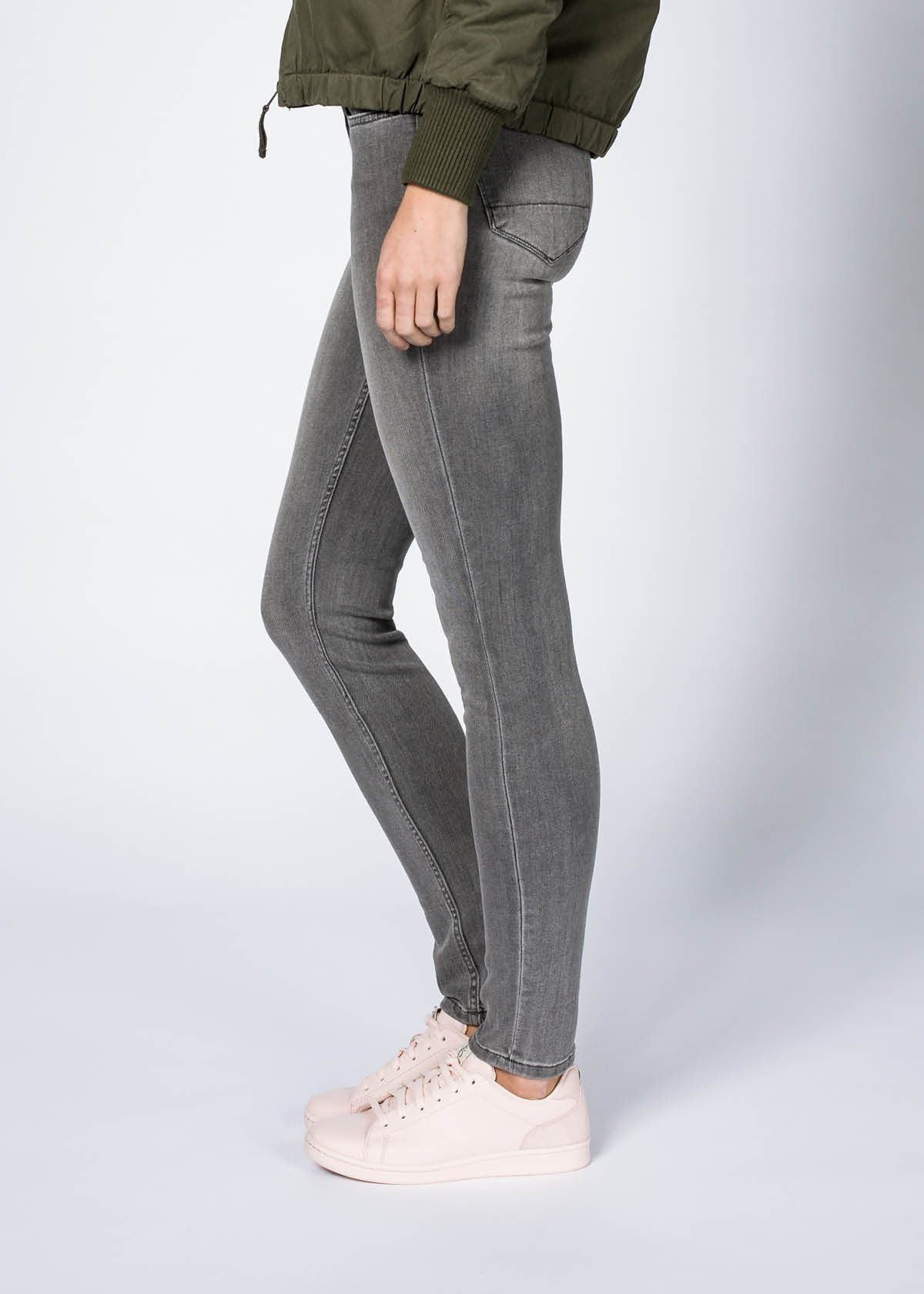 Performance Denim Skinny - Faded Grey