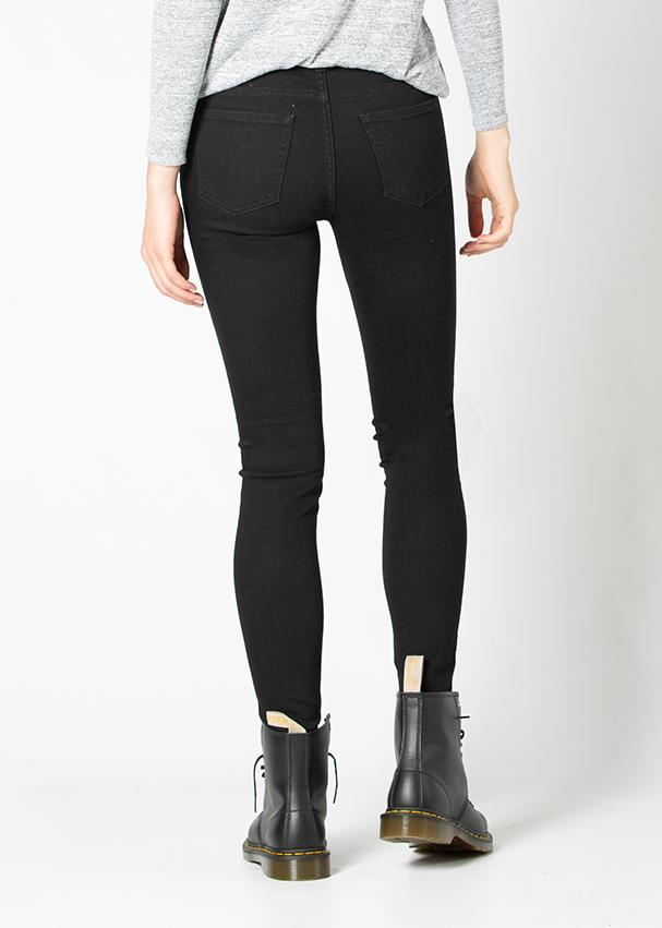 black skinny fit stretch jeans back