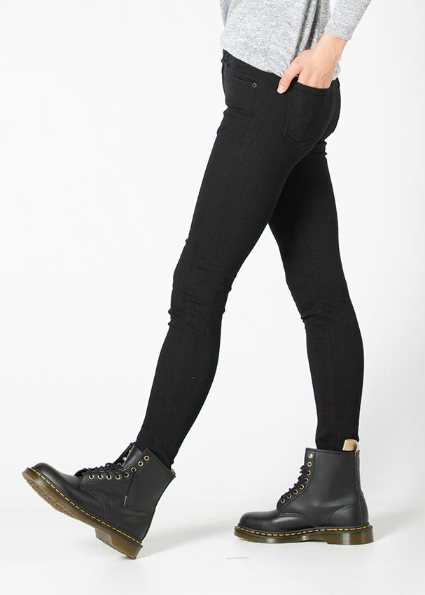 black skinny fit stretch jeans side