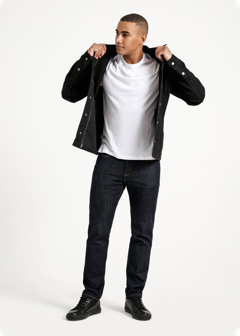 Waterproof black 3-in-1 stretch denim jacket