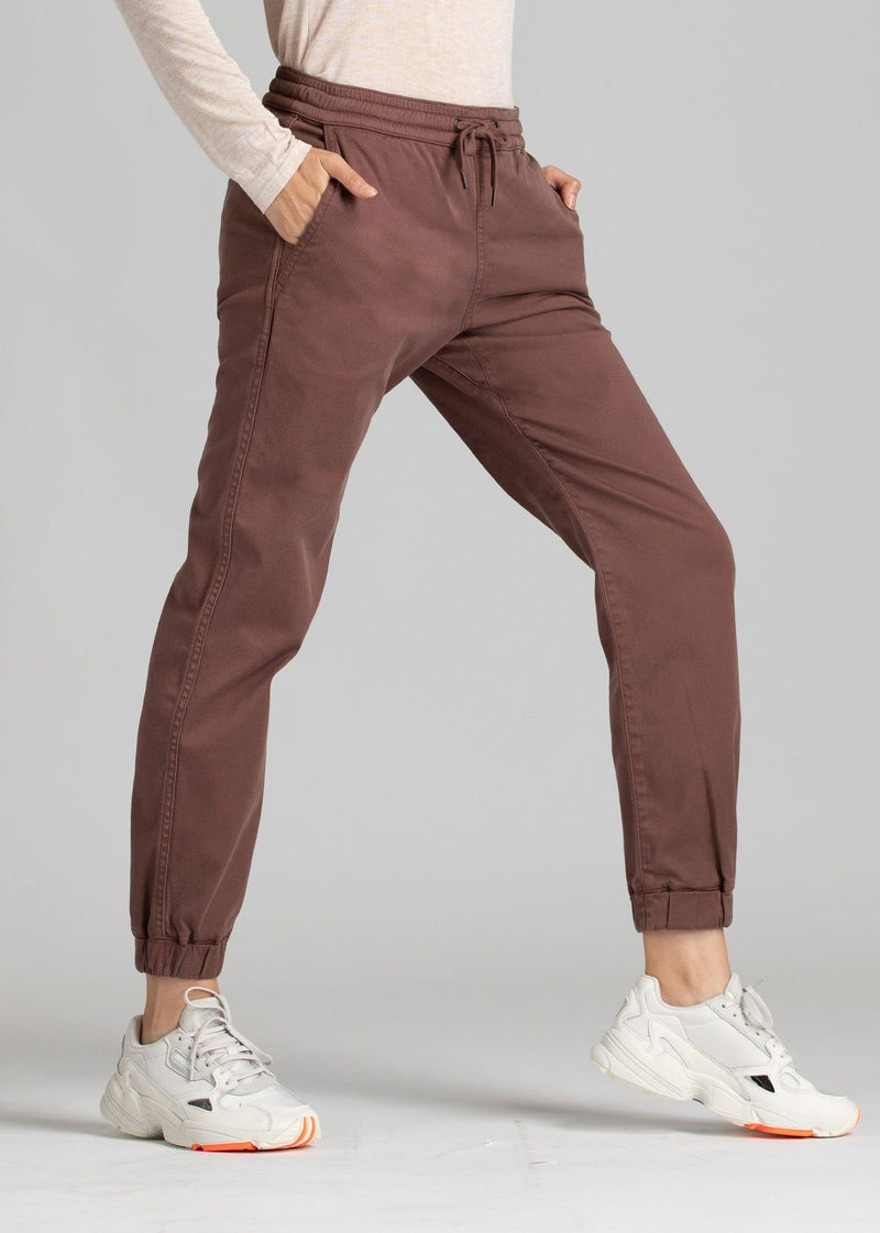 Woman wearing brown Athletic Jogger side