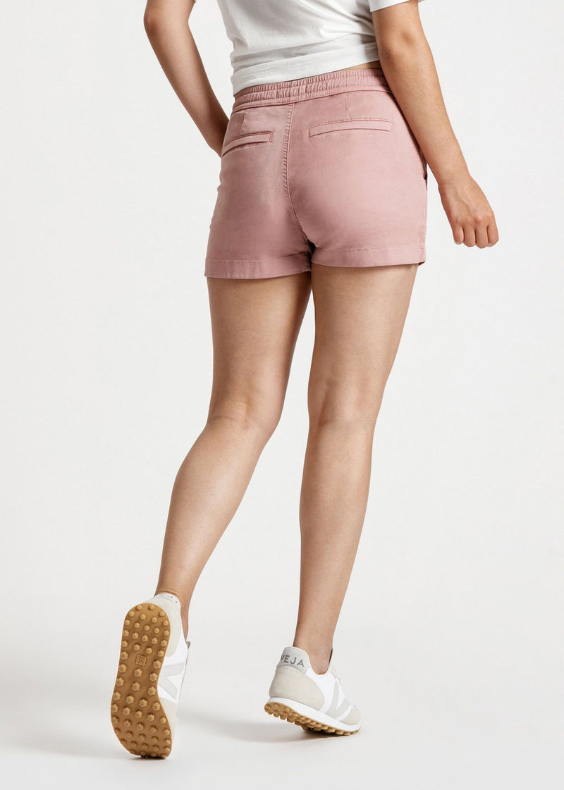 Women's Pink Stretch Summer Beach Shorts Back