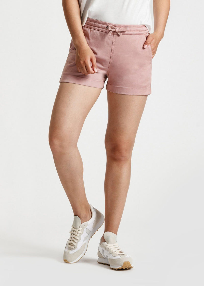 Women's Pink Stretch Summer Beach Shorts Front