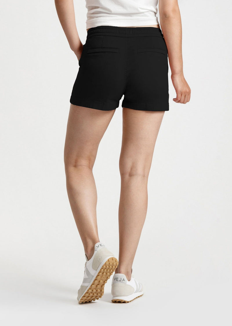 Womens black summer stretch beach short back