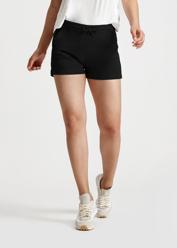 Womens black summer stretch beach short front