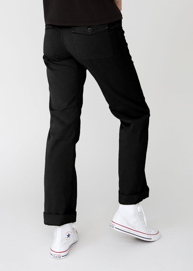 Womens lightweight utility pant black back