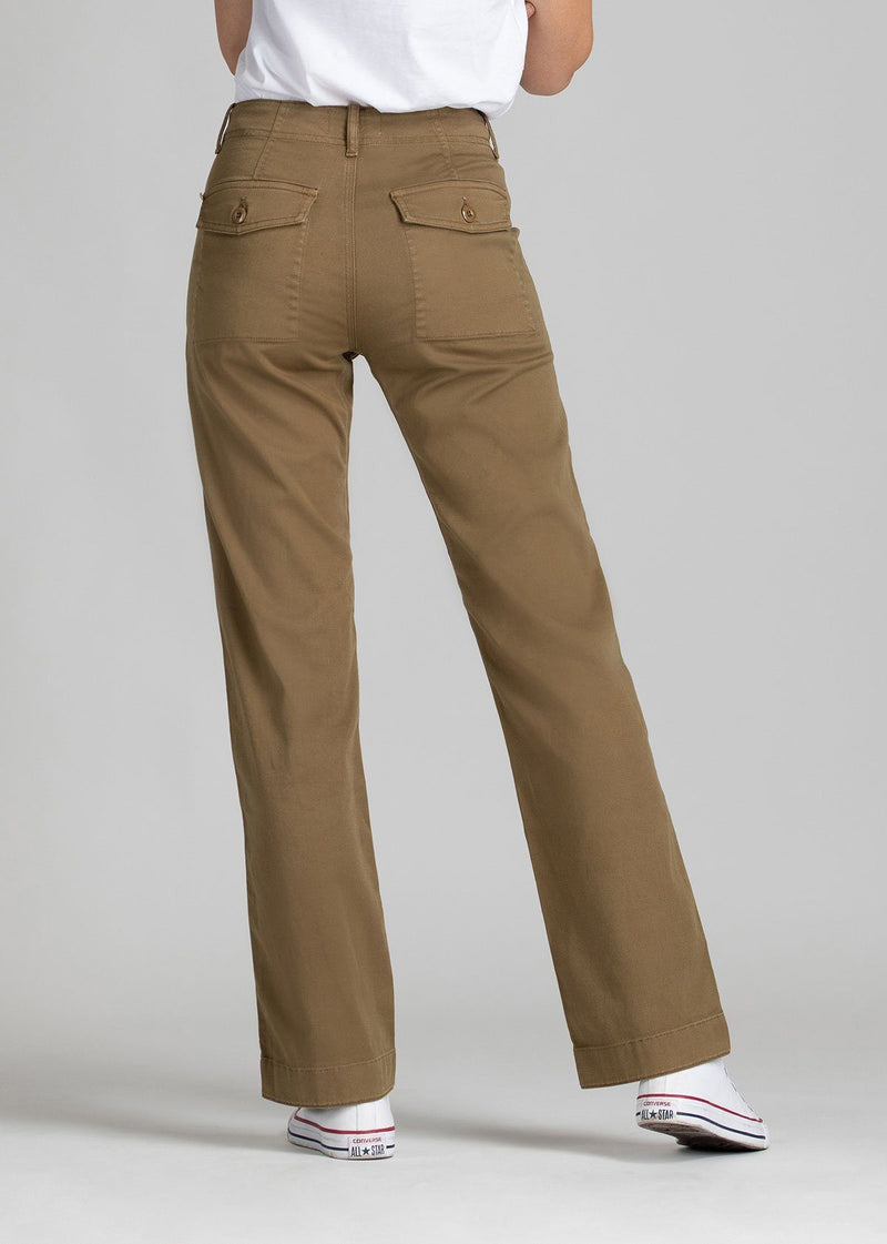 Womens lightweight utility pant brown back