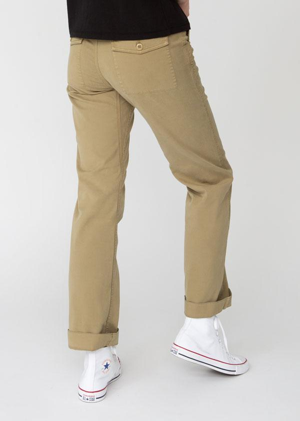 Womens lightweight utility pant khaki back