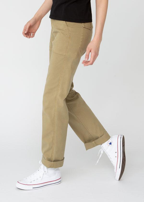 Womens lightweight utility pant khaki side