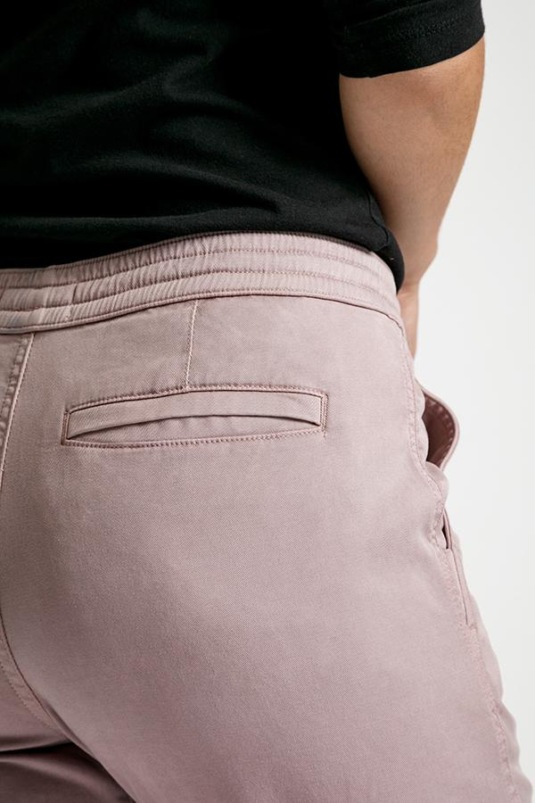 Womens pink athletic jogger back pocket detail