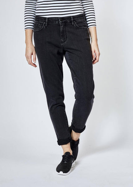 Performance Denim Relaxed Skinny - Washed Black
