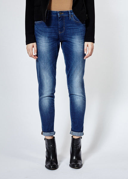 Performance Denim Relaxed Skinny - Dark Stone