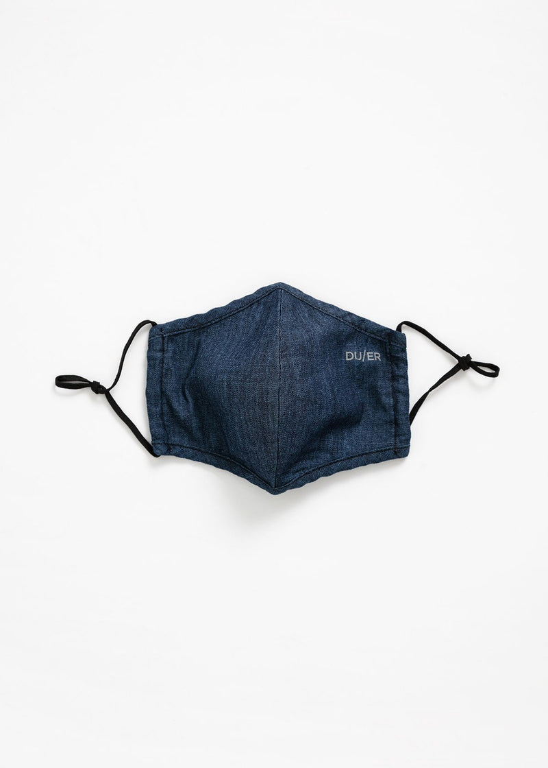 blue lightweight denim face mask